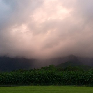 beyond mountains, there are mountains —in #Hawaii though, those are #volcanoes (at Kahaluu, Hawaii) #NoFilter
