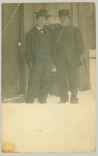 Two men in the snow