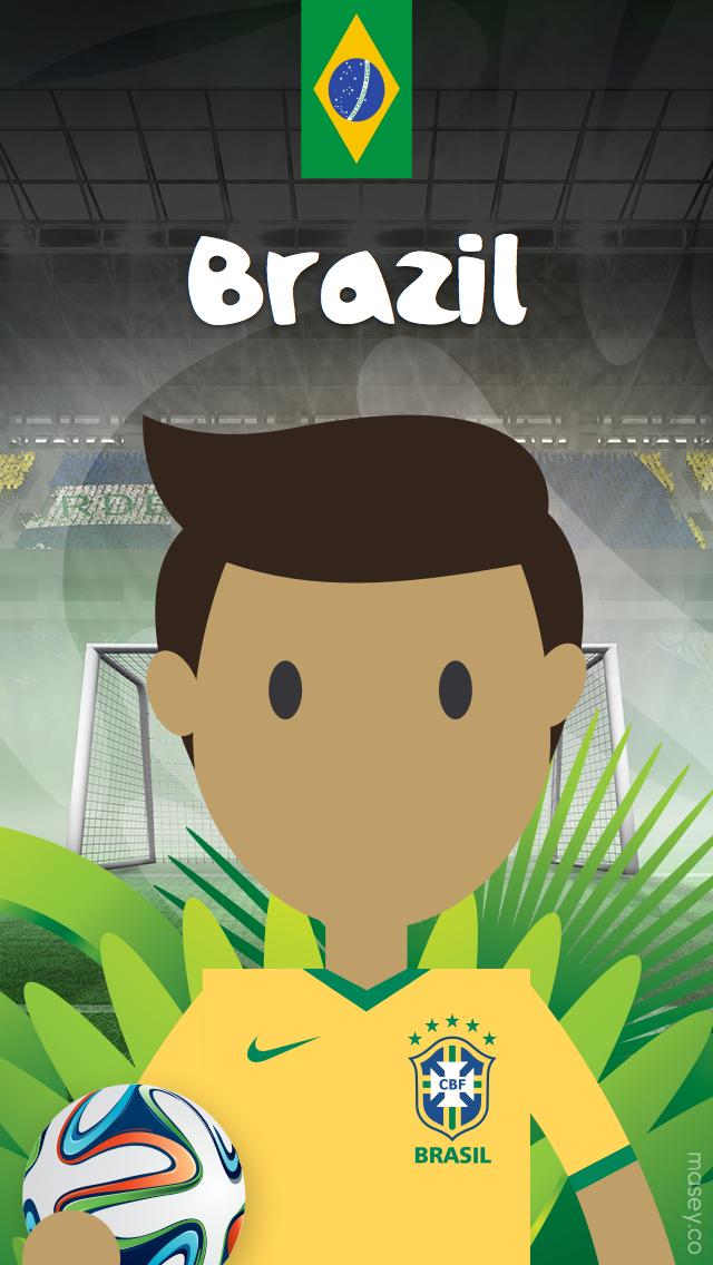2014 Football World Cup Brazil iPhone Wallpaper