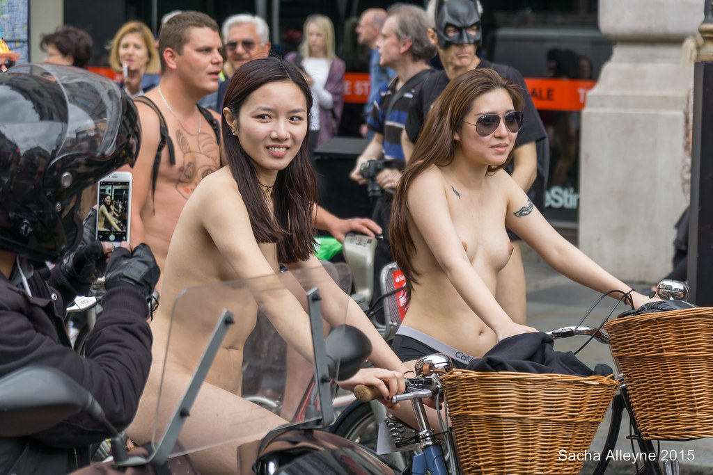 Nude asian on bike did
