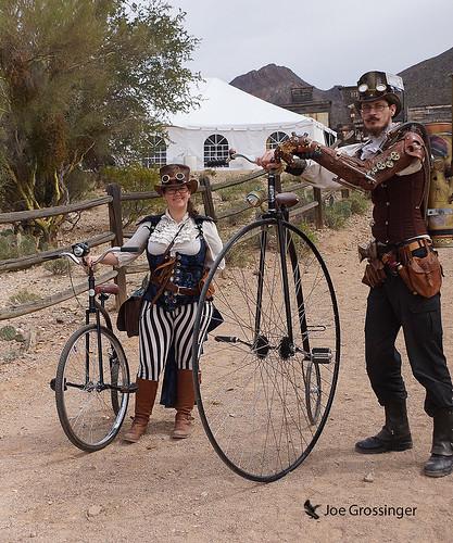 pennyfarthing bicycle man woman his hers steampunk