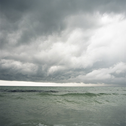 ocean storm green 120 6x6 film beach alex clouds analog mediumformat waves florida ominous hasselblad destin jacque 500cm kodakportra160