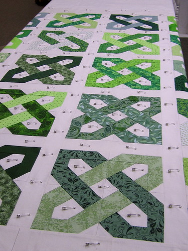 Celtic Motion quilt, basted