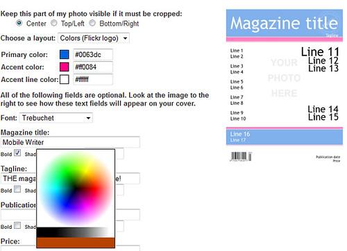 magazine creator template