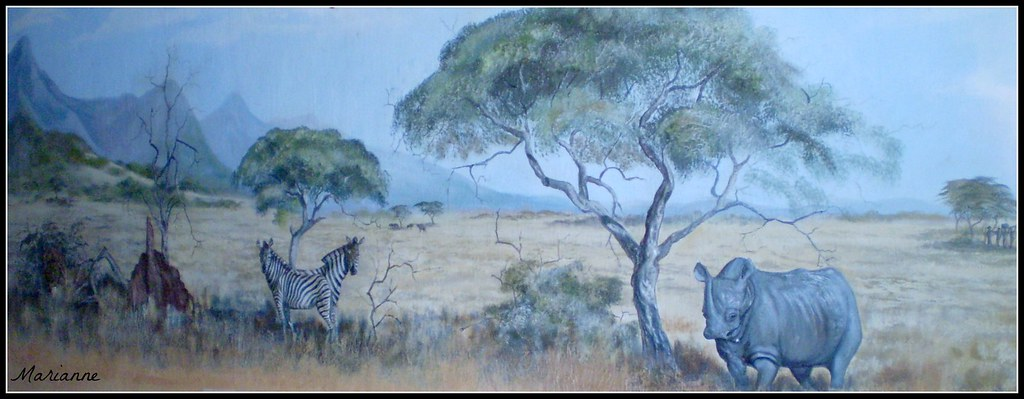 Fantasy - African Wall Painting