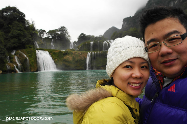 detian waterfall couple shot
