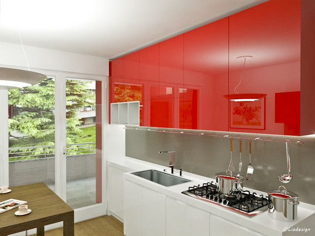 Emejing Cucine Moderne Bianche E Rosse Gallery - Ideas & Design ...