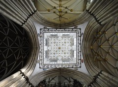 York Minster - June 2013 - Ceiling of the Central Tower