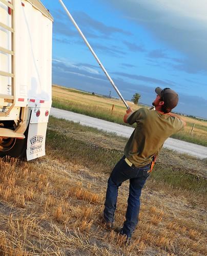 Kasey tarping truck