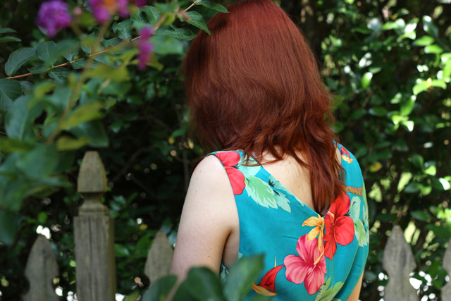 Hibiscus Dress from the back