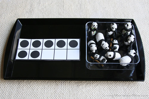 Pandas and Ten Frames Counting Activity