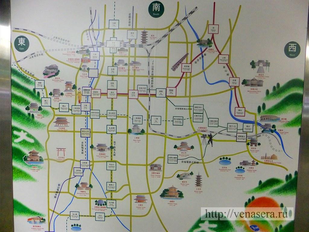 Карта Киото