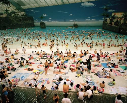 Martin Parr.  Japan.  Miyazaki.  The Ocean Dome.  1996.  from Life's A Beach.  Aperture 2013