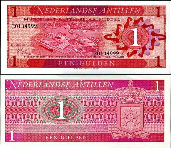 1 Gulden Holandské Antily 1970, Pick 20