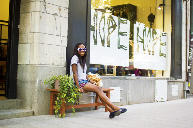 outside Hope clothing store Stockholm