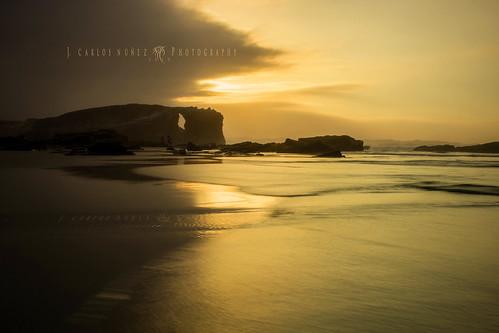 color mar playa arena puestadesol olas calma ocaso silencio