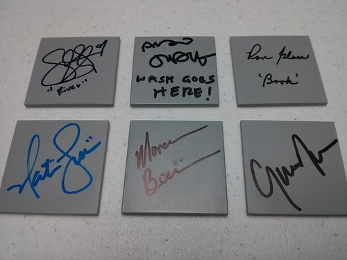 Firefly cast signed tiles