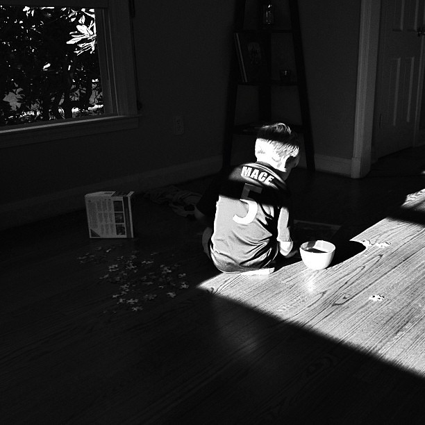 Afternoon #shadows and the puzzle man...#1000gifts
