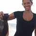Small photo of Ashleigh and her flounder