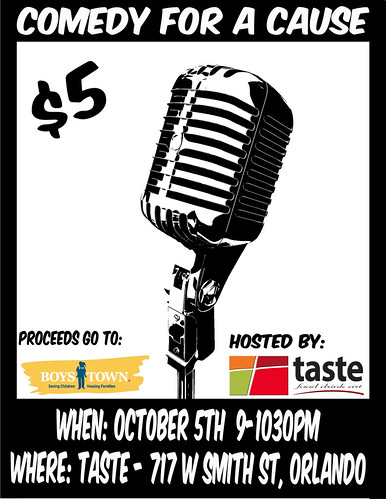 comedy for a cause flyer