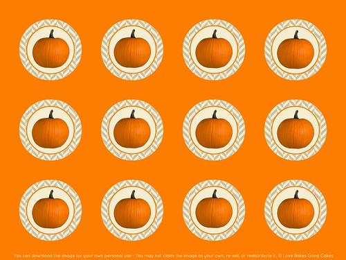Pumpkin Cupcake ToppersTags