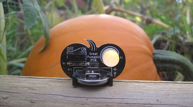 Pumpkin PCB in the pumpkin patch