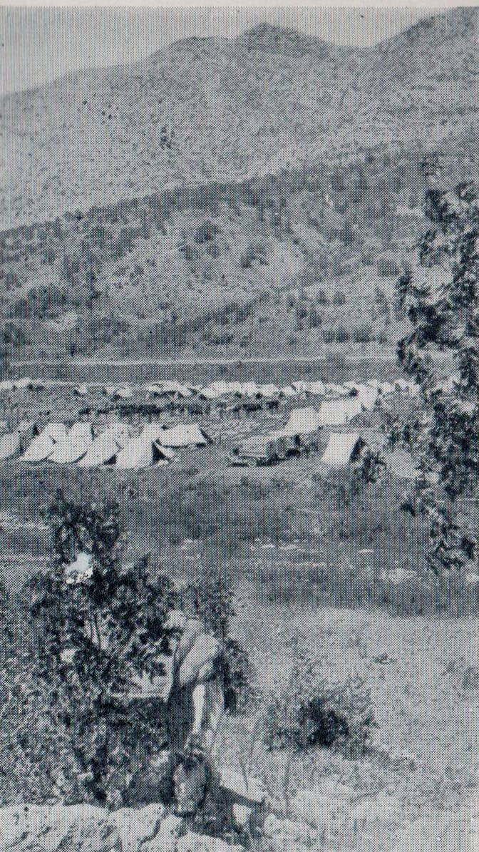 Dunsterforce camp at Hamadan