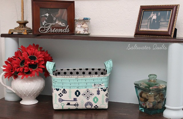 Fabric Basket in Sewing Room
