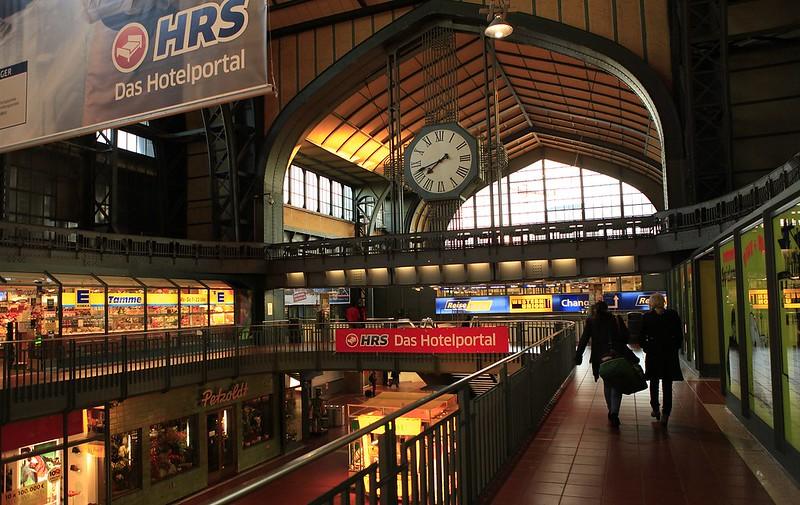 漢堡車站內的賣場