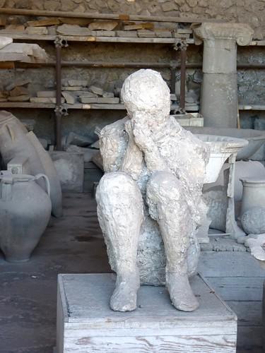 Crouching Pompeii Victim