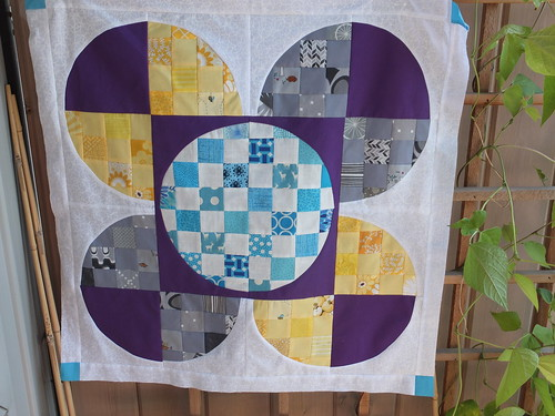 Baby Quilt on Patio