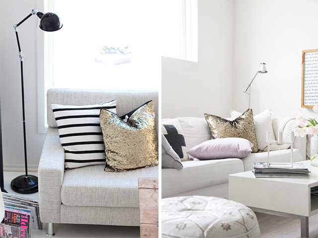 DIY Home Inspiration - SEquin Cushion