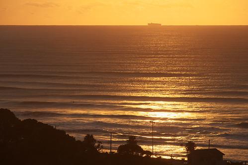 morning sea sunrise wave minamiboso