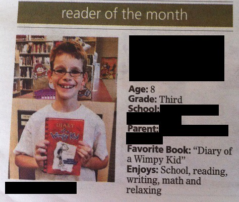 nick reader of the month for blog