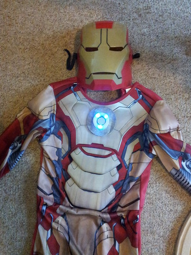 Arc reactor on Iron Man costume