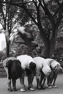 Break dance at Central Park