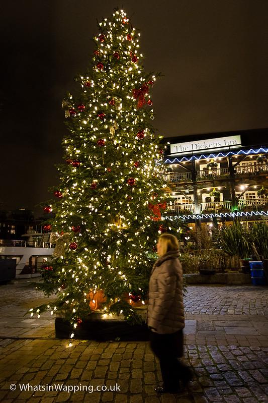 Christmas tree at St Katharine Docks