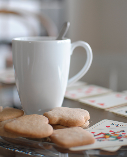 Cookies, cards and tea