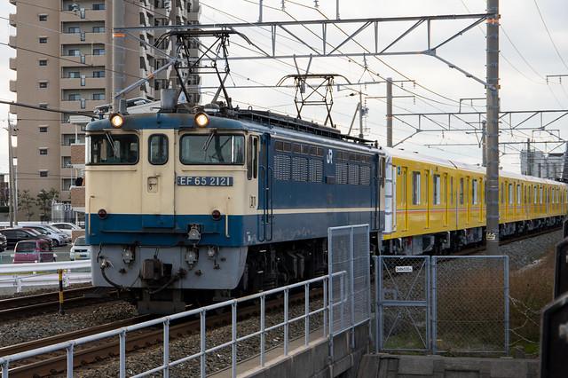 東京メトロ 銀座線 1000系 甲種輸送,  EF65-2121