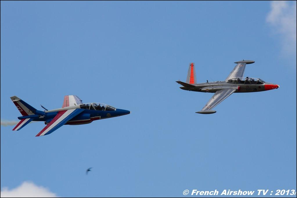 Fouga Magister ,60 ans Patrouille de France, Meeting Aerien 2013