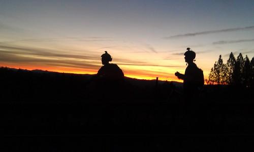 morning foothills mountain bike sunrise early ride nevada sierra mtb