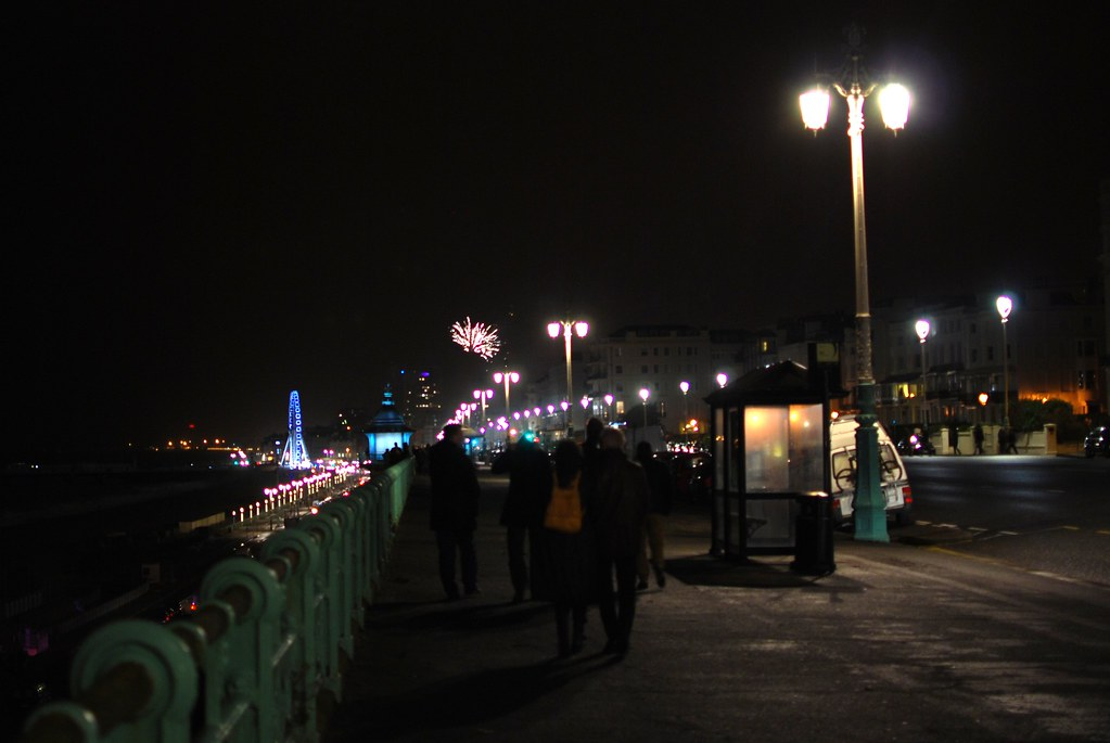 chambray and curls brighton seafront fireworks new year's eve