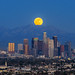 Moonrise over Los Angeles by Piriya (Pete)
