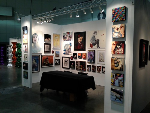 Thinkspace at the LA Art Show - booth 1226 in the 'Littletopia' section of the fair by thinkspace_gallery