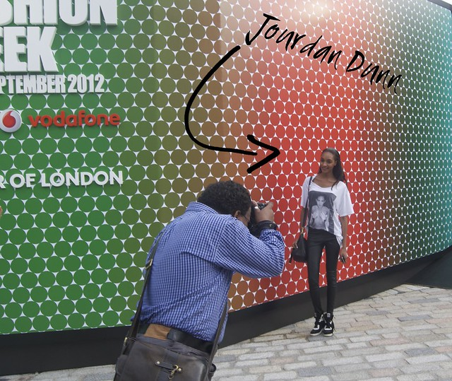 london fashion week jourdan dunn