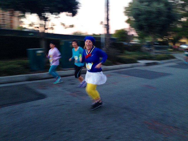 Mid-race during the runDisney Tinker Bell 10K 2014