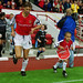 Tony Adams and Nico Yennaris of Arsenal by Stuart MacFarlane