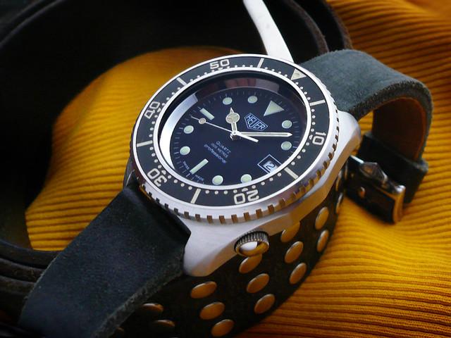 Heuer deep dive 1000m 3300ft heuerville - Heuer dive watch ...
