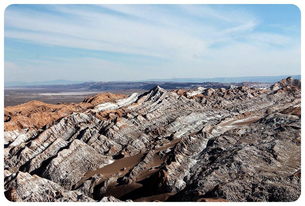 valle de la luna atacama desert saline landscape chile