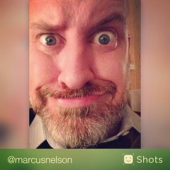 Took a selfie with Shots. Looks like I'm bored again. (via @shots)